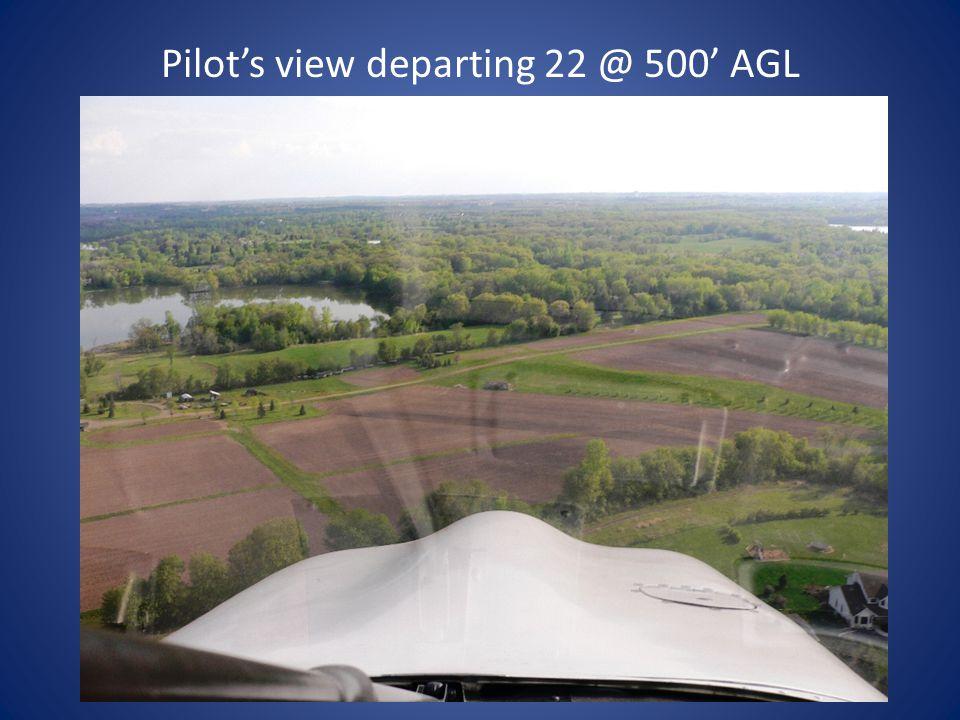 Pilot's view departing 22 @ 200' AGL