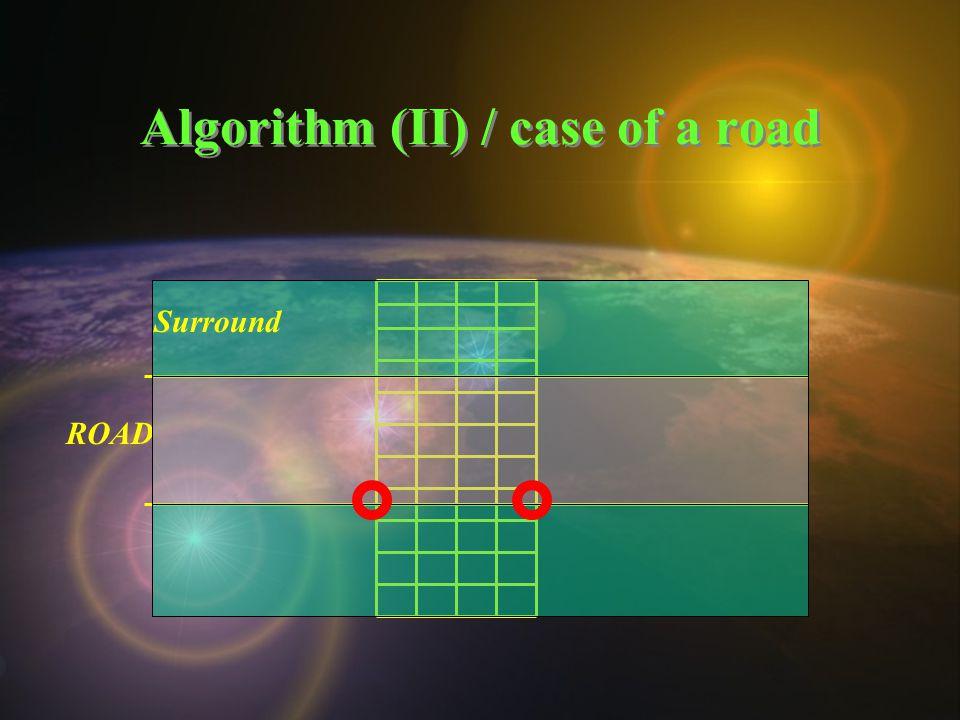 Algorithm (II) / case of a road ROAD Surround