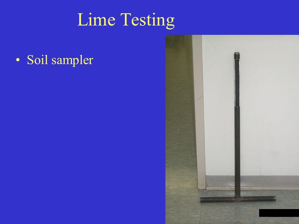 Lime Testing Soil sampler