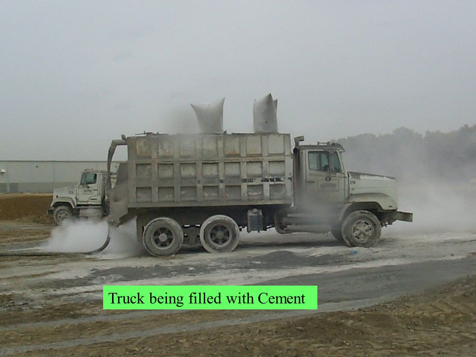 Truck being filled with Cement