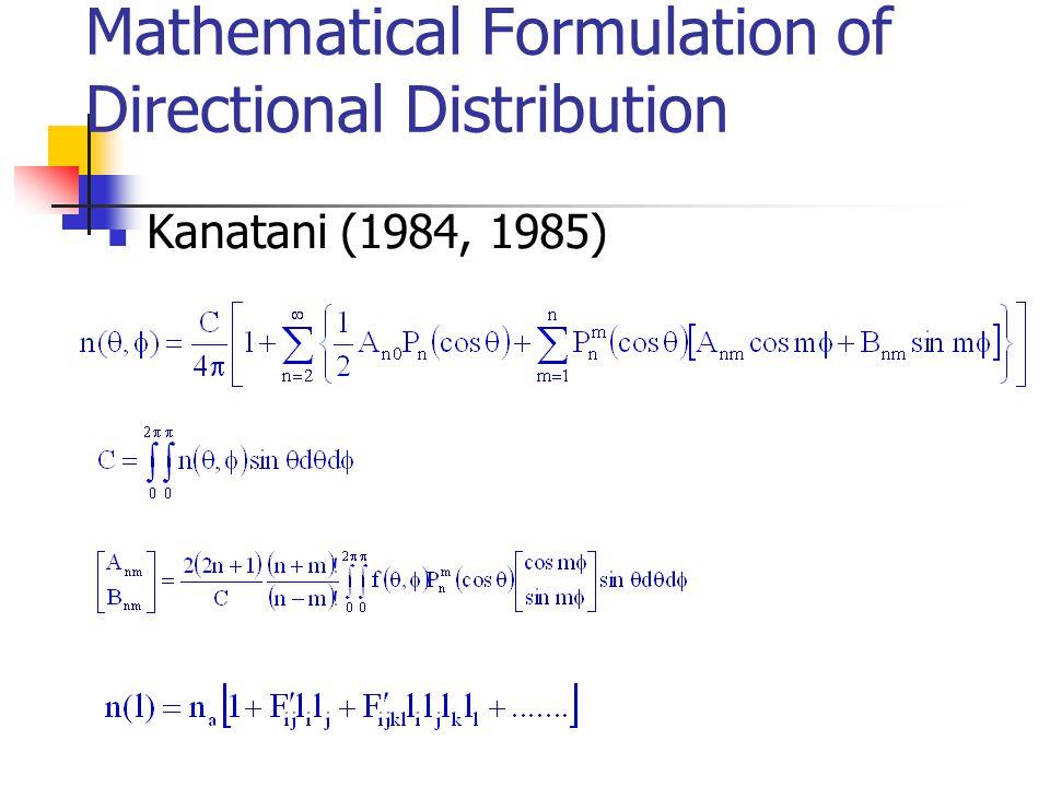Model Parameters –  aggregate distribution