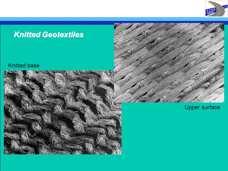 Knitted base Upper surface Knitted Geotextiles