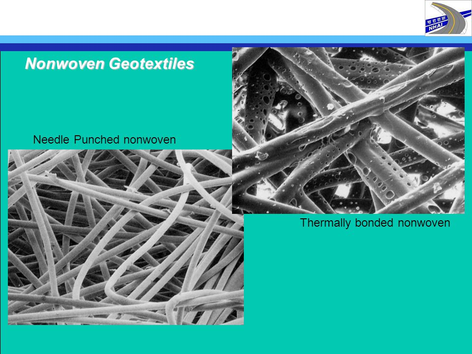 2 BENEFITS OF GEOSYNTHETIC SEPARATORS 2.1 TYPICAL APPLICATIONS -prevent contamination -avoid build-up of pore pressure -avoid loss of granular material Located at the interface between soil and aggregate sub-base/sub-grade interfaces embankments