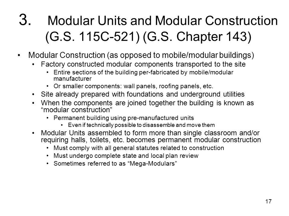 17 3. Modular Units and Modular Construction (G.S.