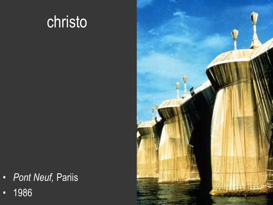 christo Pont Neuf, Pariis 1986