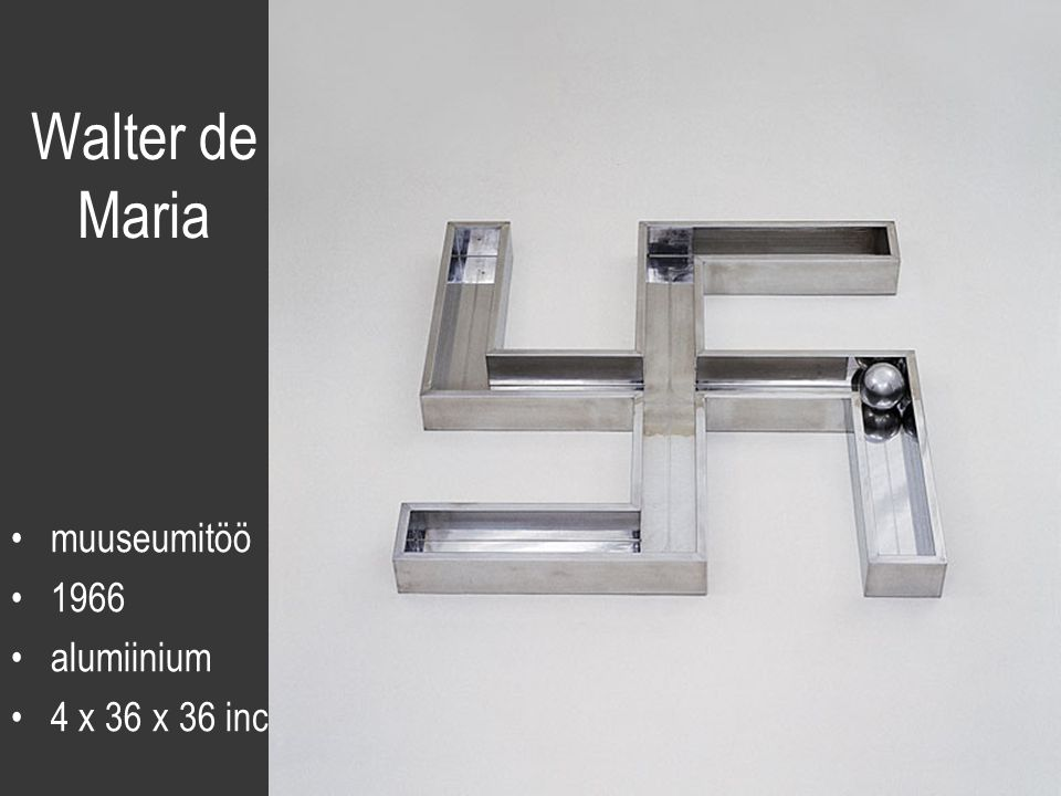 Walter de Maria muuseumitöö 1966 alumiinium 4 x 36 x 36 inc