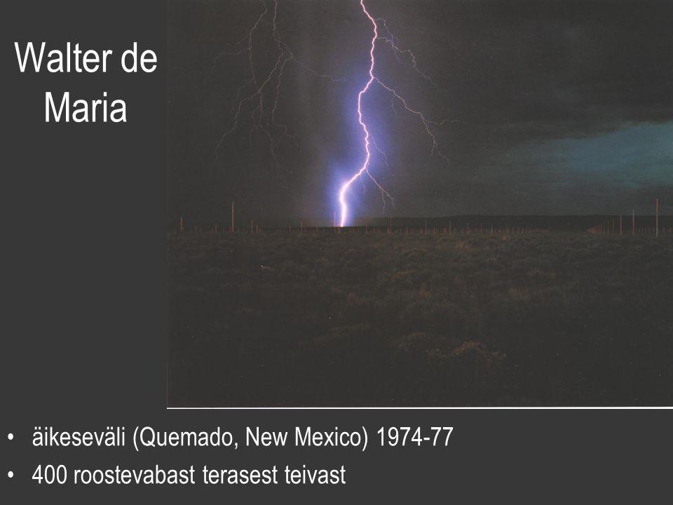 Walter de Maria äikeseväli (Quemado, New Mexico) 1974-77 400 roostevabast terasest teivast