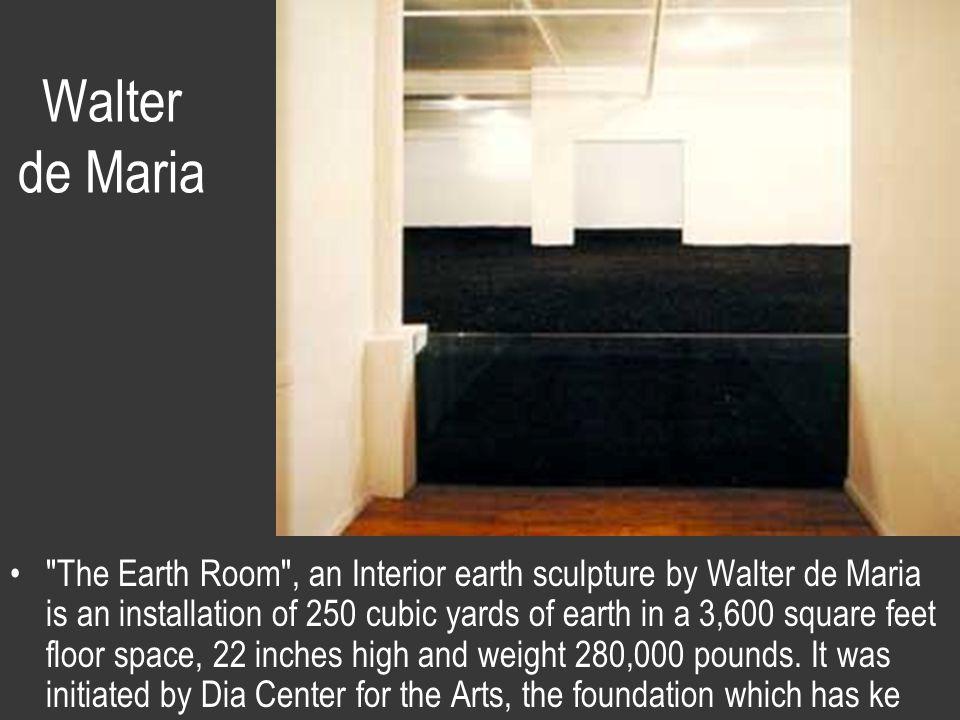 Walter de Maria An interior earth sculpture.
