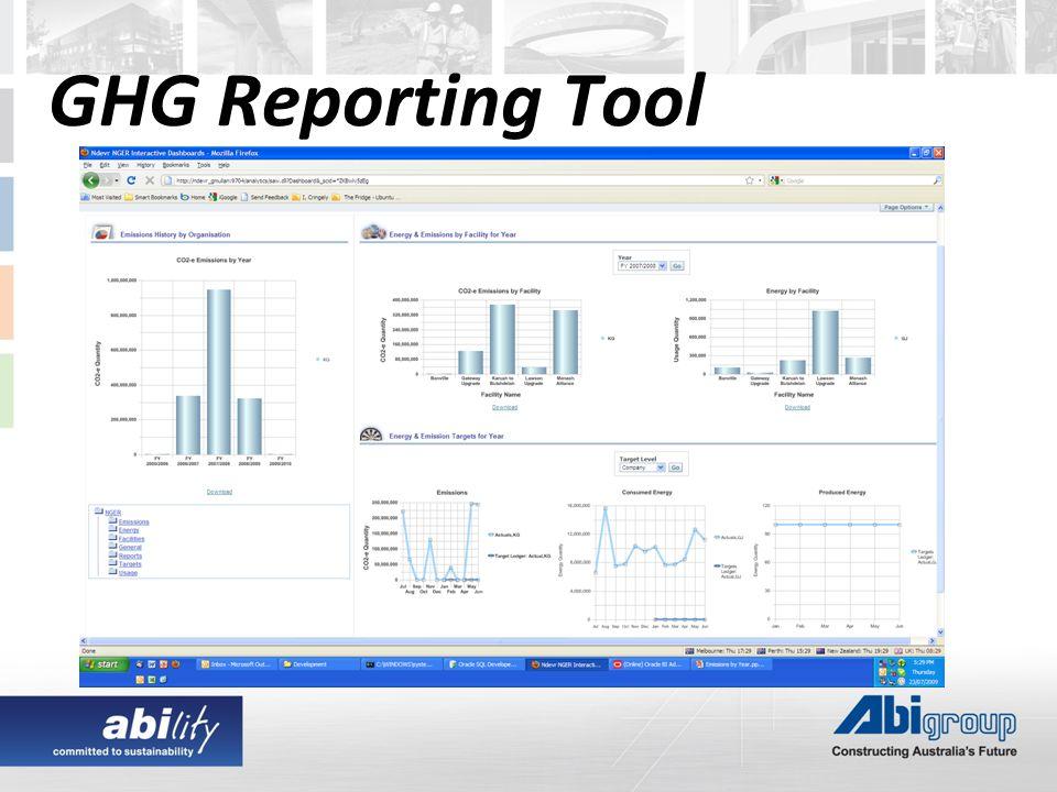 GHG Reporting Tool