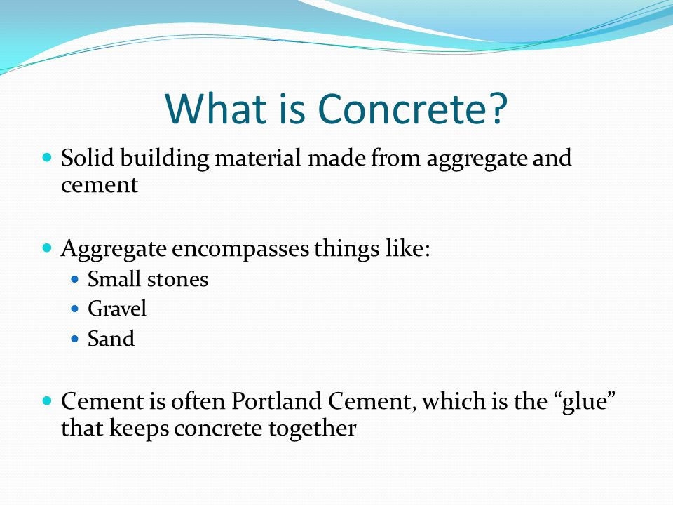 What is Concrete.