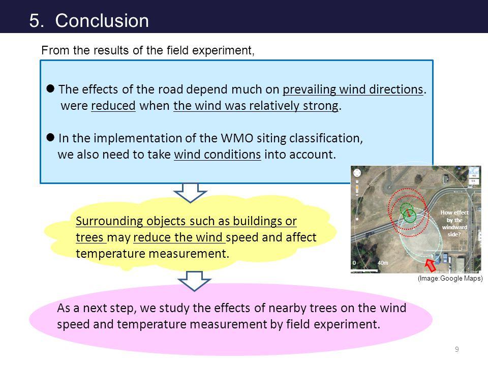 よとh 5. Conclusion 9 The effects of the road depend much on prevailing wind directions.