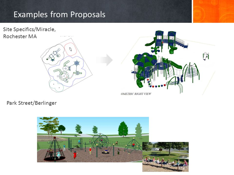 Examples from Proposals M E Obrien & Sons Kompan, US