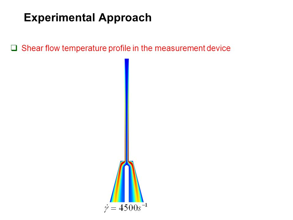 Experimental Approach  Shear flow temperature profile in the measurement device