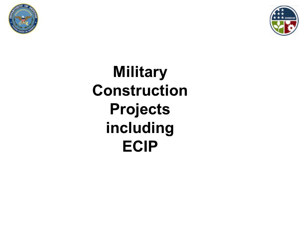 Military Construction Projects including ECIP