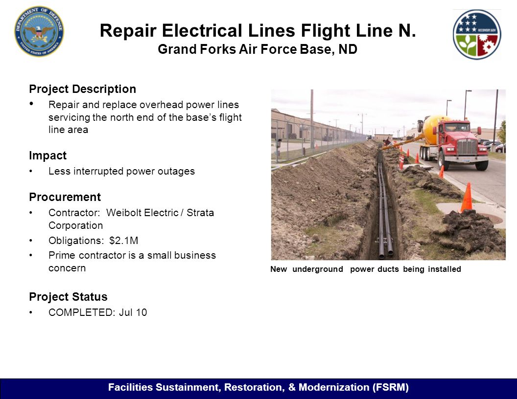 Repair Electrical Lines Flight Line N.