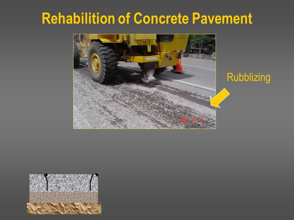 Rubblizing Rehabilition of Concrete Pavement