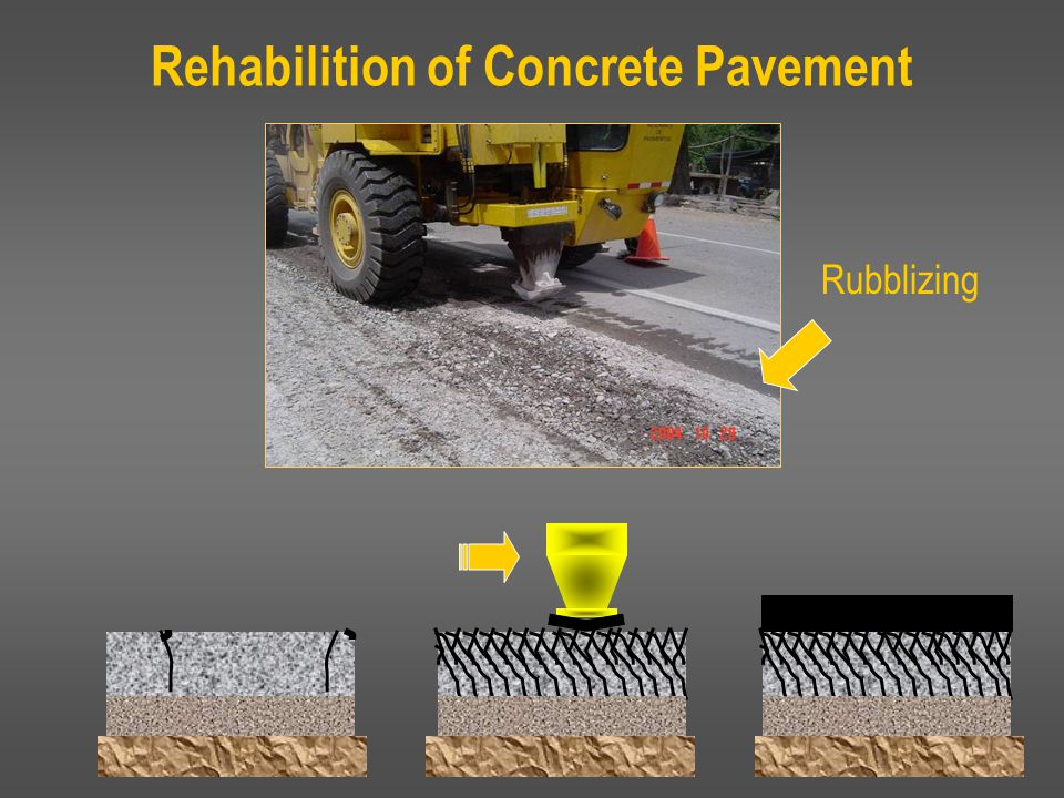  Pictured is pavement after years of use and deterioration.