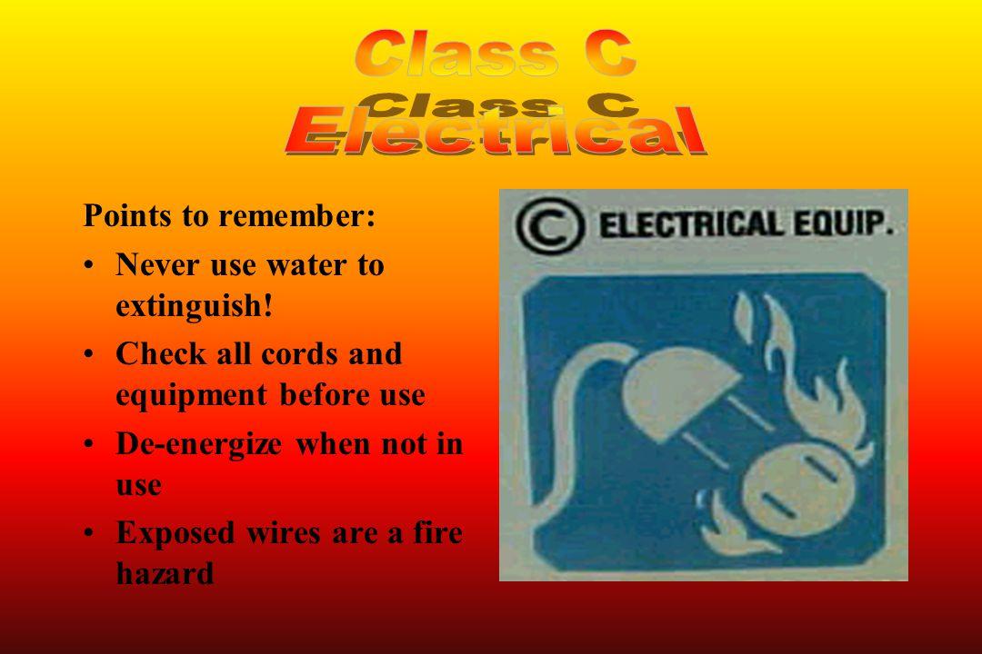 Class A - For class A fires only Class B - For class B fires only Class AB - For both class A and B fires Class ABC - For class A, B, and C fires