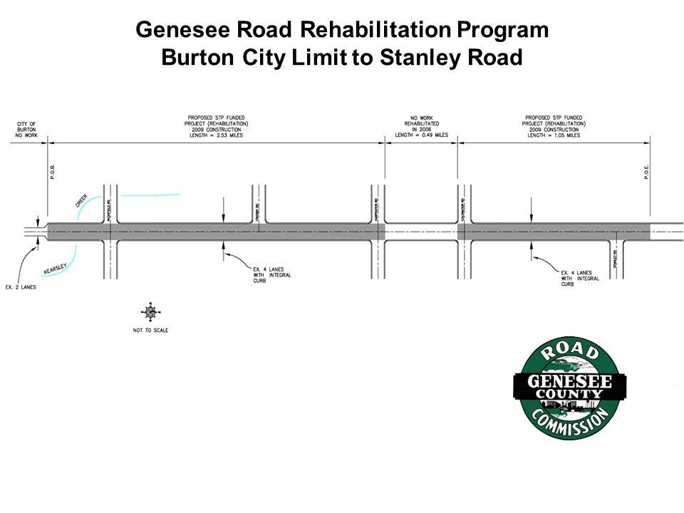 Genesee Road Rehabilitation Program Burton City Limit to Stanley Road