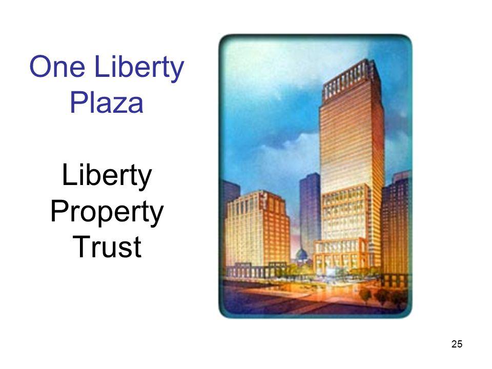25 One Liberty Plaza Liberty Property Trust