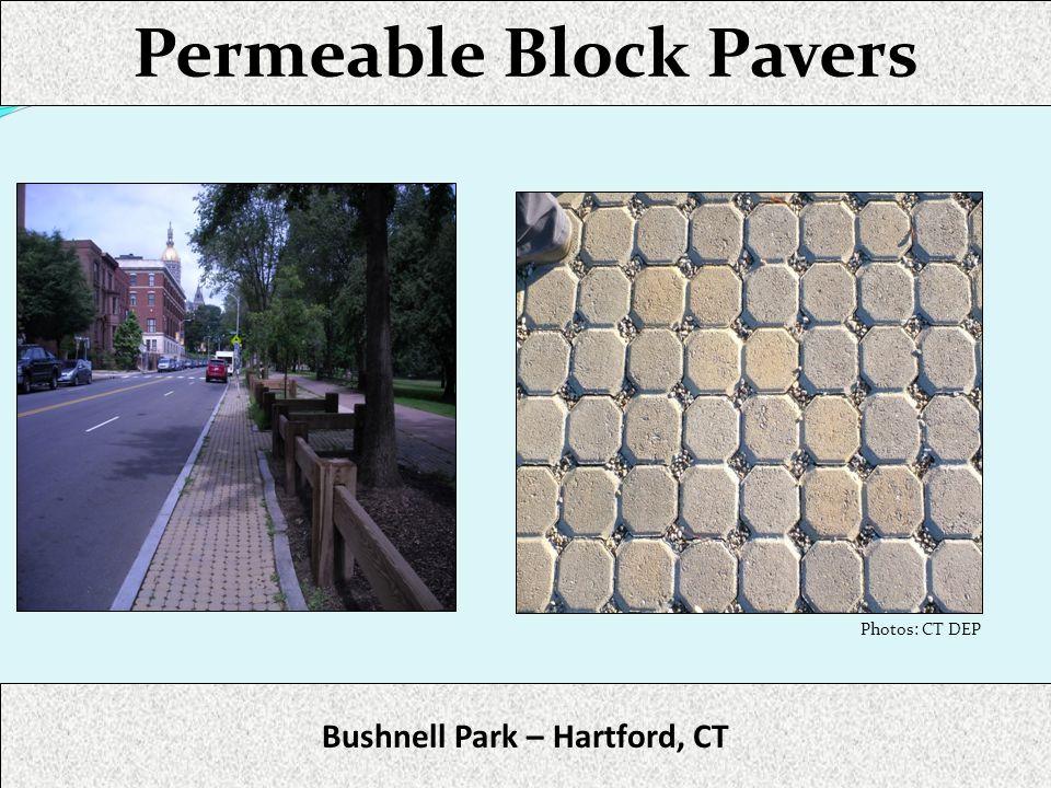 Permeable Block Pavers Bushnell Park – Hartford, CT Photos: CT DEP