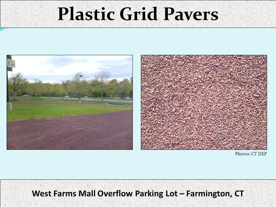 West Farms Mall Overflow Parking Lot – Farmington, CT Photos: CT DEP Plastic Grid Pavers