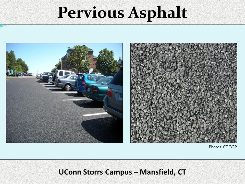 Pervious Asphalt UConn Storrs Campus – Mansfield, CT Photos: CT DEP