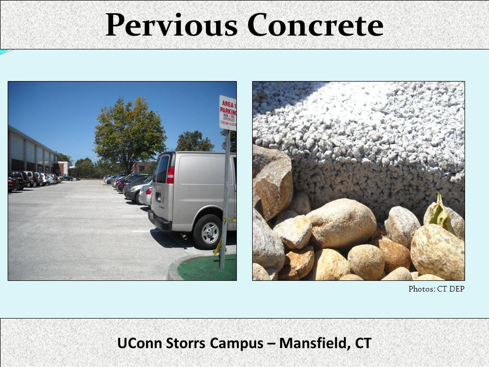 Pervious Concrete UConn Storrs Campus – Mansfield, CT Photos: CT DEP
