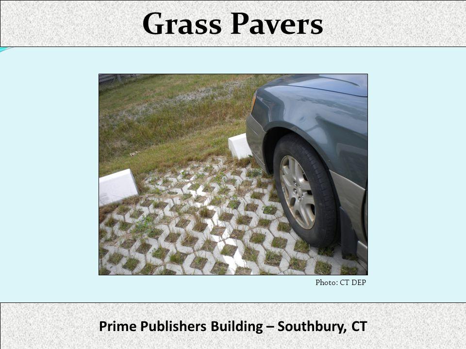 Grass Pavers Prime Publishers Building – Southbury, CT Photo: CT DEP