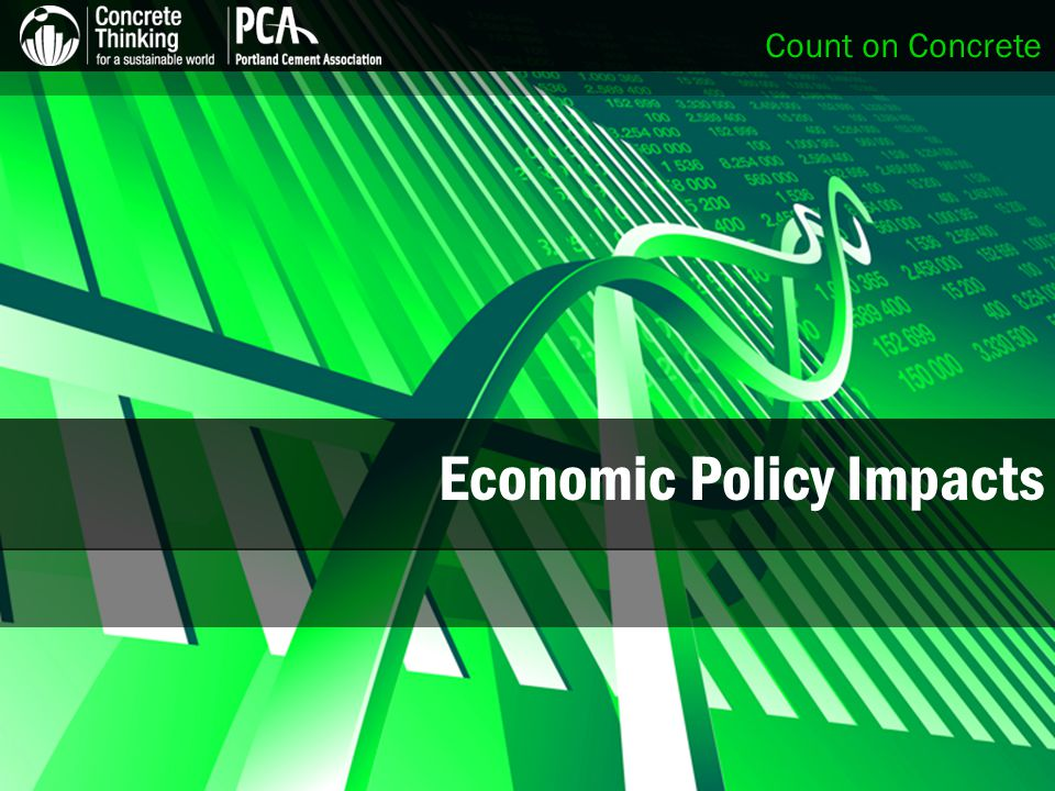 Count on Concrete Economic Policy Impacts