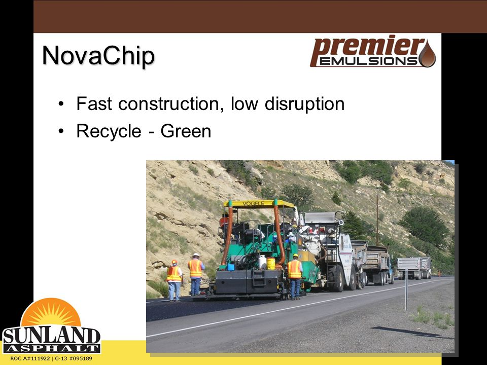 NovaChip Fast construction, low disruption Recycle - Green