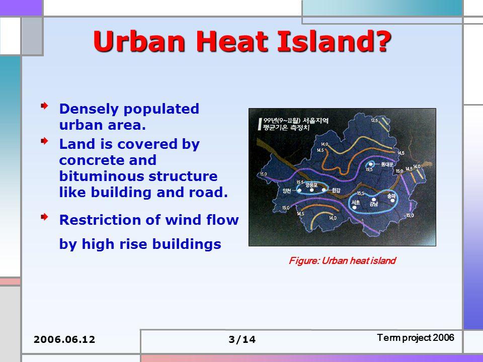 2006.06.123/14 Term project 2006 Urban Heat Island.