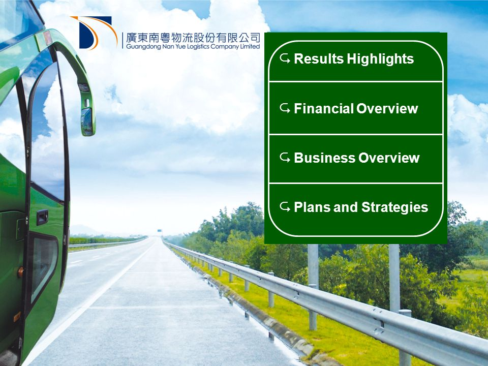  Results Highlights  Financial Overview  Business Overview  Plans and Strategies