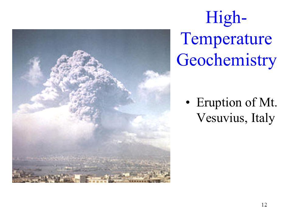 12 High- Temperature Geochemistry Eruption of Mt. Vesuvius, Italy