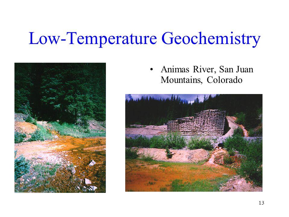 13 Low-Temperature Geochemistry Animas River, San Juan Mountains, Colorado