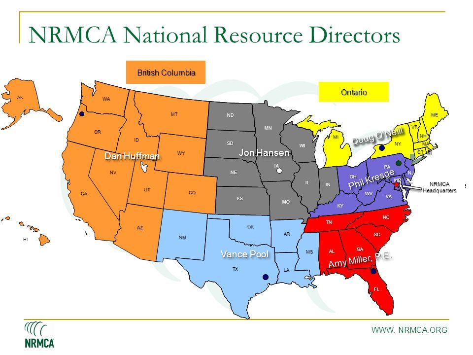 WWW. NRMCA.ORG NRMCA National Resource Directors