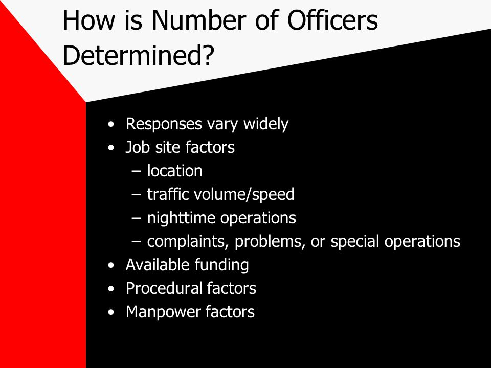 How is Number of Officers Determined.