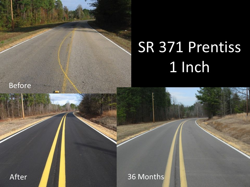 SR 371 Prentiss 1 Inch After 36 Months Before