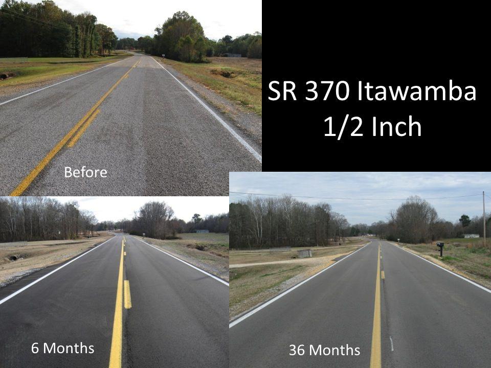 SR 370 Itawamba 1/2 Inch 6 Months 36 Months Before