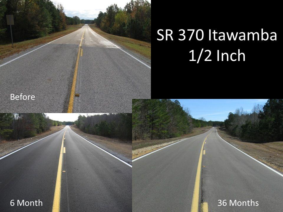 SR 370 Itawamba 1/2 Inch 6 Month Before 36 Months