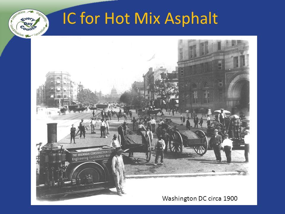 IC for Hot Mix Asphalt Washington DC circa 1900