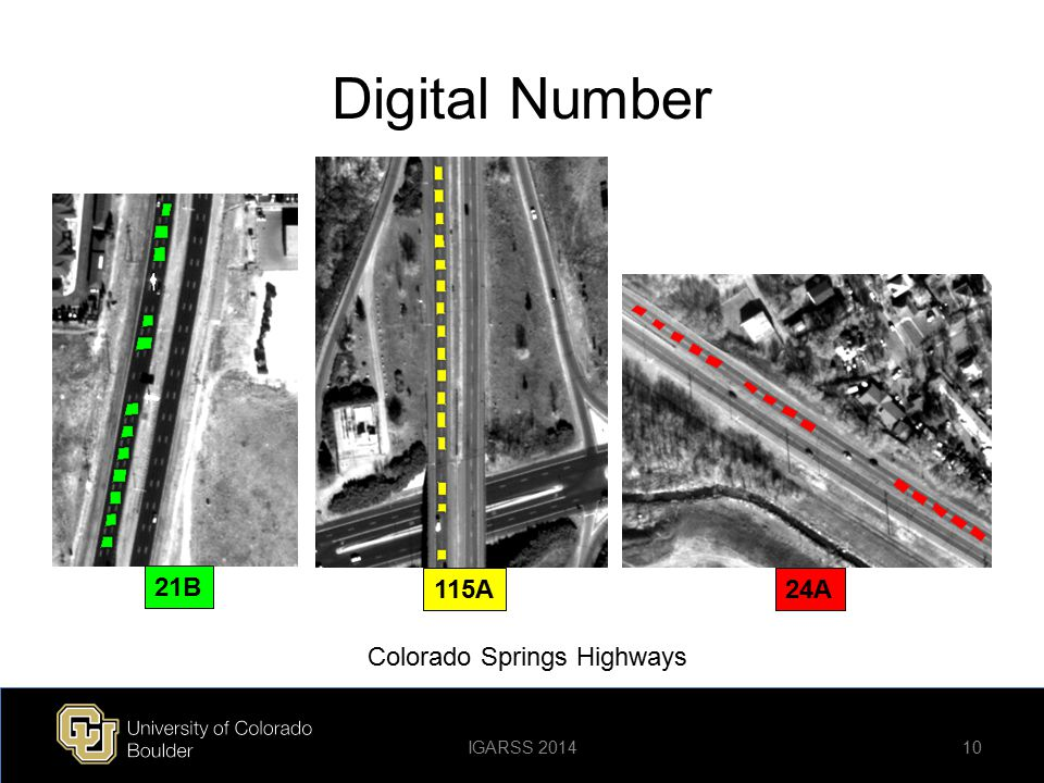 Digital Number 21B 115A24A 10 Colorado Springs Highways IGARSS 2014