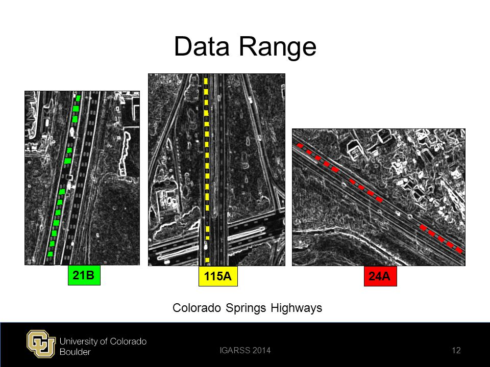 Data Range 21B 115A24A 12 Colorado Springs Highways IGARSS 2014