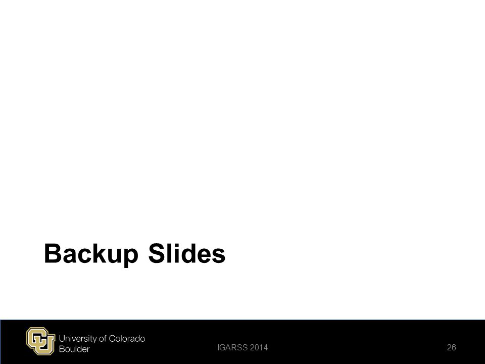 Backup Slides 26IGARSS 2014
