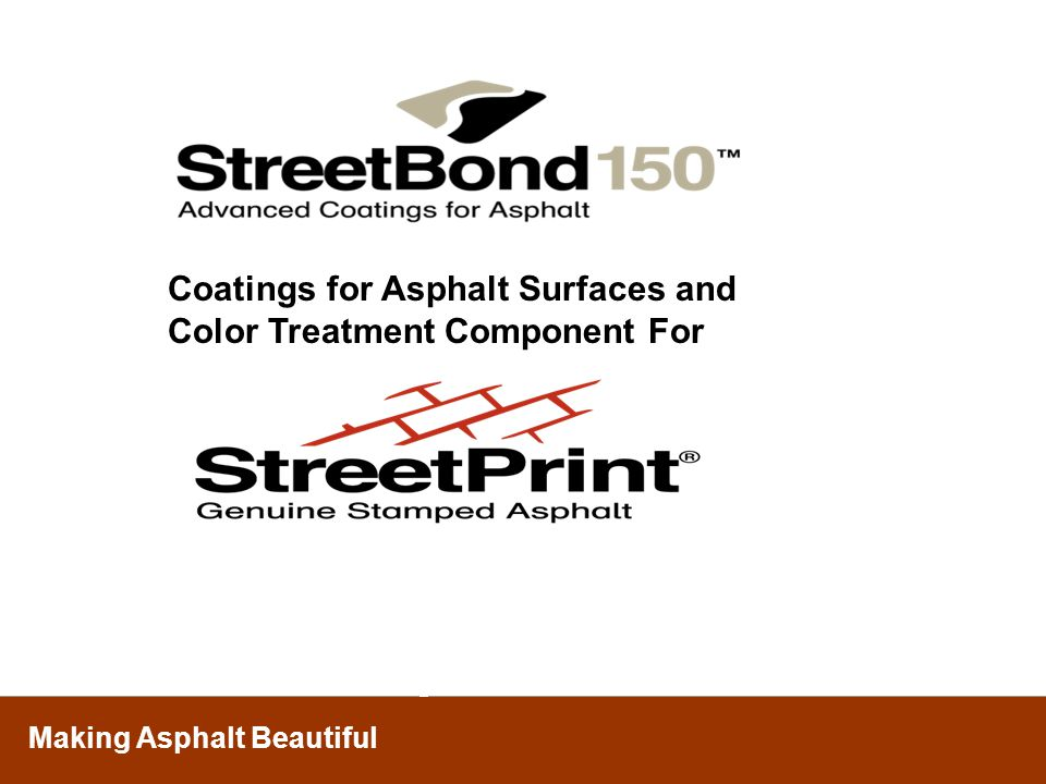 Coatings for Asphalt Surfaces and Color Treatment Component For