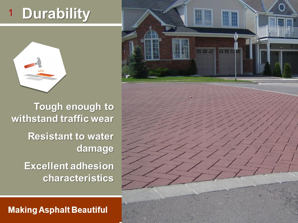 Tough enough to withstand traffic wear Resistant to water damage Excellent adhesion characteristics 1 1.800.688.5652 Durability Durability LA City Hal