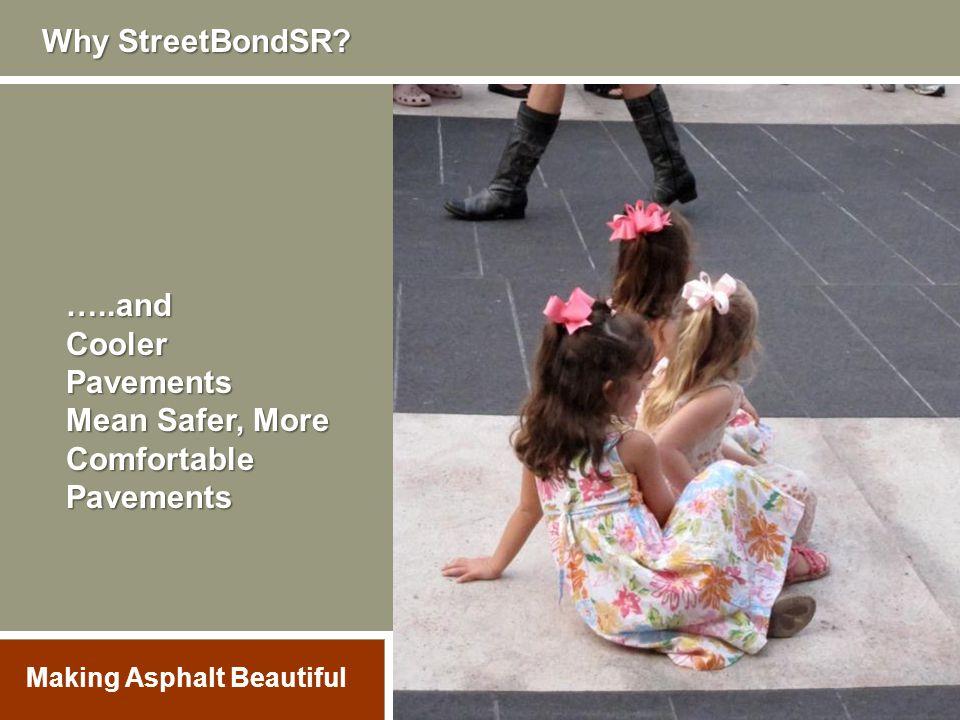 …..andCoolerPavements Mean Safer, More ComfortablePavements Why StreetBondSR? Making Asphalt Beautiful