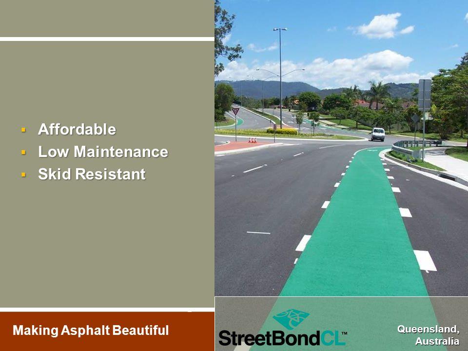 Making Asphalt Beautiful  Affordable  Low Maintenance  Skid Resistant Queensland, Australia Queensland, Australia