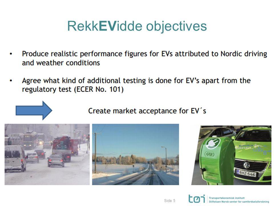 Side RekkEVidde objectives 5