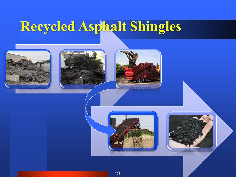 Recycled Asphalt Shingles 23